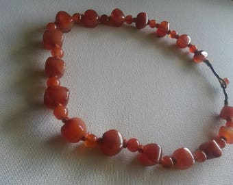 Vintage Carnelian stone necklace