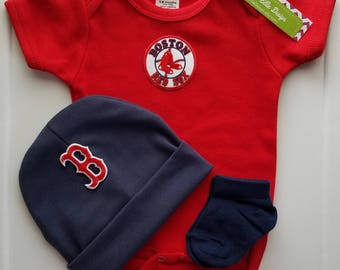 baby boy boston red sox outfit with hat-baby boy boston red sox-boston red sox baseball romper-red sox creeper-red sox boy gender reveal