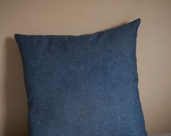 Classic Chambray Reclaimed Fabric Pillow