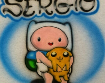 Baby Finn Adventure Time Airbrushed T-shirt