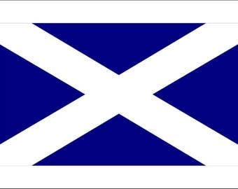 Saltire National Flag Of Scotland Stencil, St Andrews Cross, Make your own flags, Various Sizes Available, Reusable, 190 Micron, Flexible