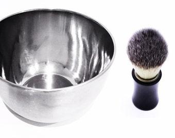 Shaving Brush & Bowl