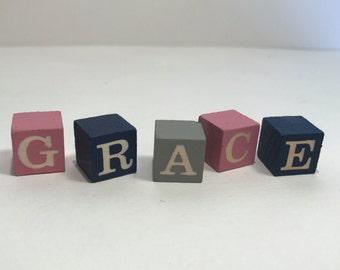 12 Scale Custom Letter Blocks
