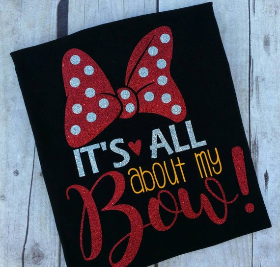 It S All About My Bow Minnie Mouse Tee Shirt Disney
