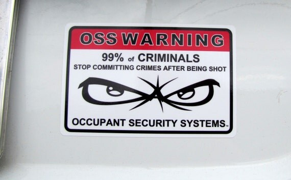OSS Warning Stickers Security System Stickers Auto Window - Window decals for home security