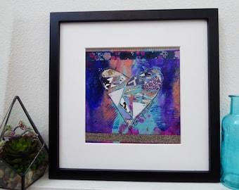 Mixed Media Photo Print Giclee Art - Love Your Heart
