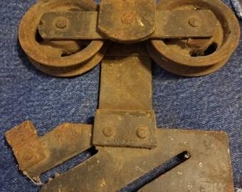 Vintage Cast Iron Pulley Door Hardware