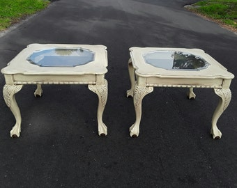 Painted Distressed End /Bedside Tables **Shipping NOT Included**