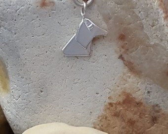 Sterling Silver Origami Dog necklace