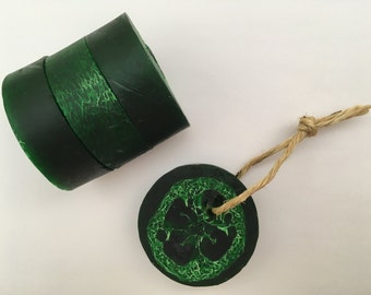 Green Loofah Soap on a Rope