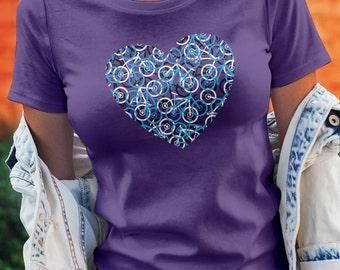 The Bike Heart Bicycle Tee Shirt w/Cyan Bikes
