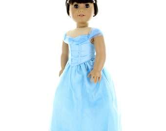 "Light Blue Princess Dress for 18"" dolls"
