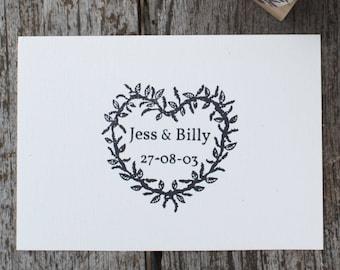 wedding stamp - heart wreath