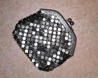 Womens Chainmail Small metal coin purse Mesh pouch Wallet Glamour Chainmaille Change Chain mail maille Jewelry keys trinket lipstick storage