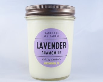 Lavender Chamomile Scented Candle | Soy Candle | Handmade Soy Candle | Lavender Candle | Soothing Candle | Soy Candle Gift | Lavender