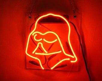 """Handmade 'Star Wars' Darth Vader Movie Art Light Banner Room Decor Neon Sign 13""""x8"""""""