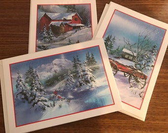 5 Assorted Vintage Christmas Cards