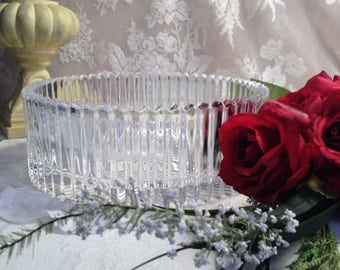 Incredibly Beautiful Pleated Lead Crystal Bowl