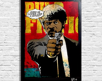 Jules from Quentin Tarantino 's Pulp Fiction - Original framed fine art painting, poster, canvas, artwork, movie poster