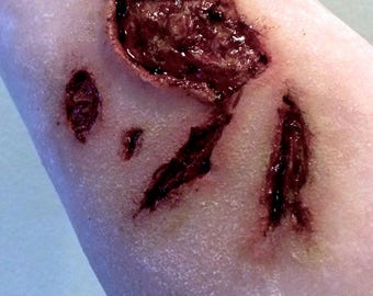 SFX prosthetic silicone large open wound