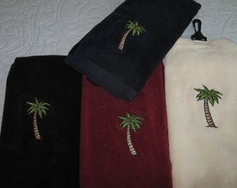 Palm Tree Golf Towel / Palm Tree Boat Towel / Golf Towel /  Boat Towel