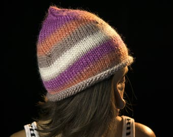 Beanie   Winter Hat   100% Wool   Hand Made