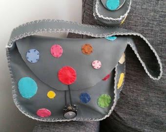 """Round"" unique, handmade leather bag."