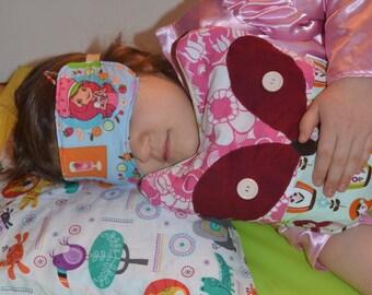 Pillow in Organic Buckwheat Shawls, Child, Sleep, Wellness, Gift, Eco-Friendly, Pirate, Handmade