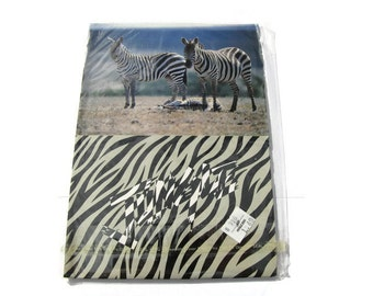 VTG Zebra Stickers Jungle Memo Paper Scrapbooking Crafts Kit - Zoo