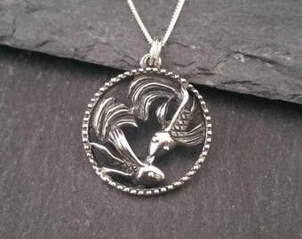 Genuine 925 Sterling Silver Koi Carp Fish Pendant Necklace Gift Wrapped