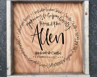 Allen Parish - Sign (12x12)