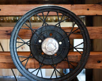 "Vintage Metal Ford Spoke Wheel - 1930-31 only Model ""A"" Ford wheel"