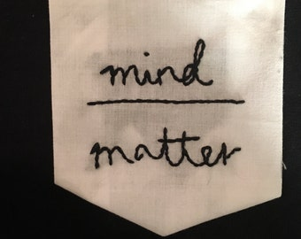 Embrodiered Young the Giant Mind Over Matter Pocket T-Shirt
