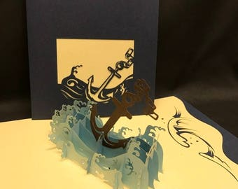 Anchor 3-d pop up card