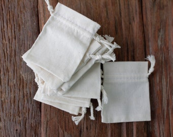 50 pcs 2x3 small Muslin cotton drawstring bags gift bags jewellery packaging tiny mini pouches drawstrings very small favor bags gift pouch