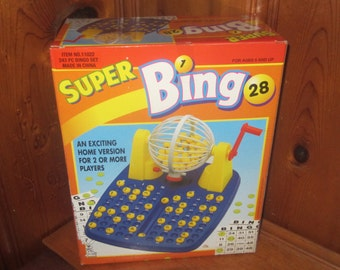 Tomland Industries Super Bingo Home Board Game Manual Ball Cage 243 Pieces 2+ Players - New
