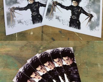 Edward scissorhands (Johnny Depp) by Tim Burton : FANART (poster, bookmark, marque page)