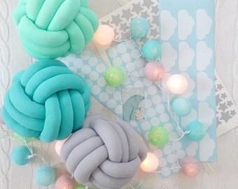 decorative pillow, chunky pillow, knot cushion, sofa pillow, cushion, couch, pillow, knot home decor, knotted pillow