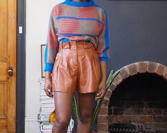 Vintage fuzzy colour block sweater | S