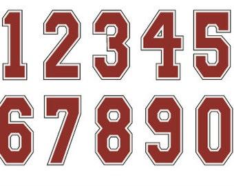 Varsity Numbers font Monogram SVG Cut Files Instant Download