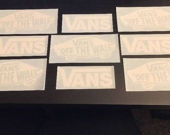 Vans Shoes Skateboarding Stickers decals Pack Of 9 Off The Wall Skateboard Skate AVE - FREE SHIPPING