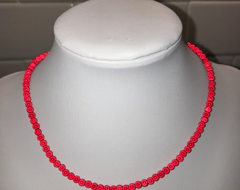 Red Mini Glowwbead Choker