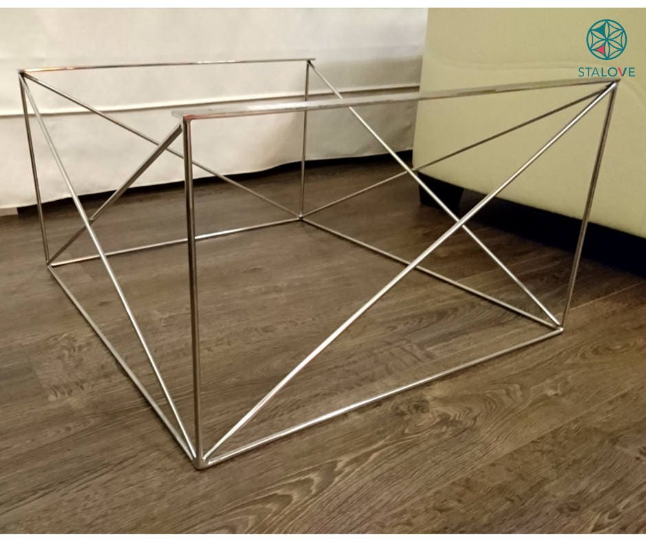 Stainless Steel Coffee Table Legs. Made in Europe. Modern Coffee Table Legs.  Metal - Metal Table Legs Etsy