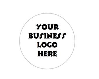 Business logo stickers. Round and 40mm in diameter. Ideal for small/home businesses.