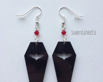 Gothic Coffin Earrings