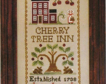 Cherry Tree Inn by Little House Needleworks Counted Cross Stitch Pattern/Chart