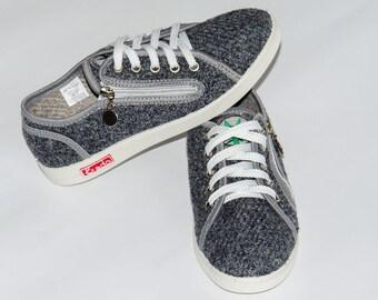 Hemp Sneakers for women KREDO / size 6-10 US / Ukrainian shoes/ organic