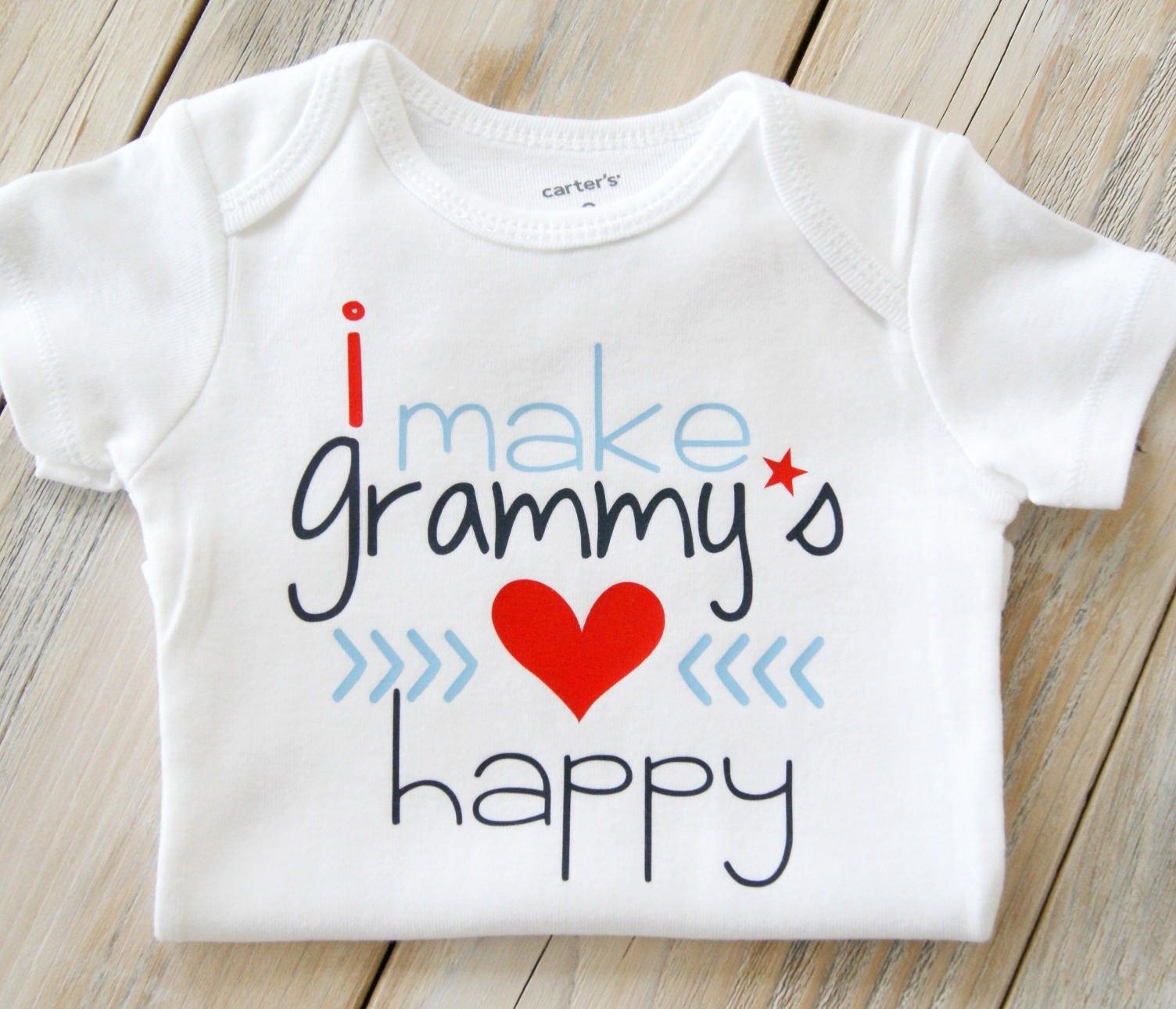 I Make Grammy s Heart Happy Baby Boy esie Baby Girl esie Custom