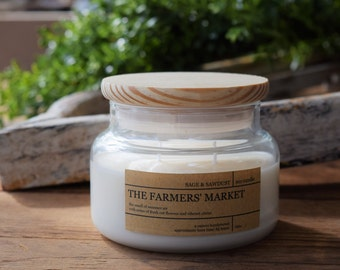 LIMITED EDITION: The FARMERS' Market - 9oz Handpoured Soy Candle