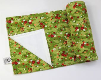 Toddler Blanket - Cotton Fleece Baby Blanket - Fleece Baby Blanket - Baby Shower Gift - Organic Baby Bedding - Organic Cotton Baby - Flowers